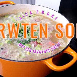 Erwten soep met een Javaanse Twist